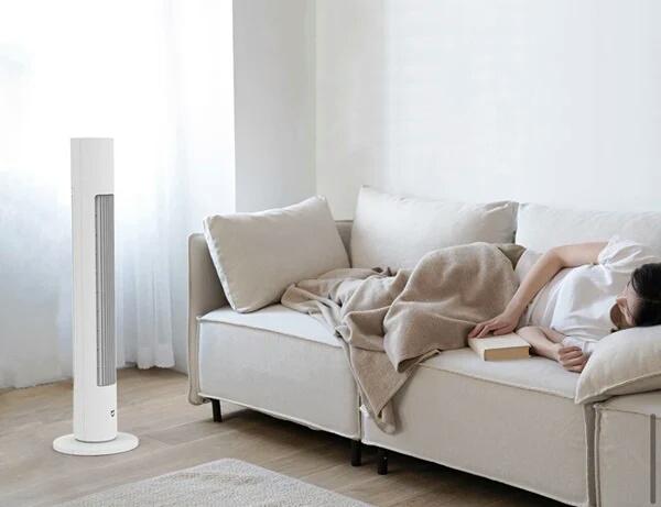 Độ ồn thấp giúp tạo sự thoải mái cho người sử dụng quạt tháp Xiaomi Mijia DC Inverter
