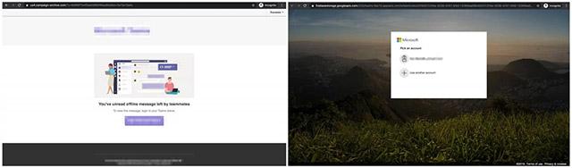 Trang đăng nhập Office 365 giả mạo