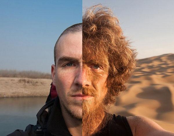 Hình ảnh trái ngược của một người đàn ông trước - sau khi dành 1 năm để đi bộ xuyên Trung Quốc