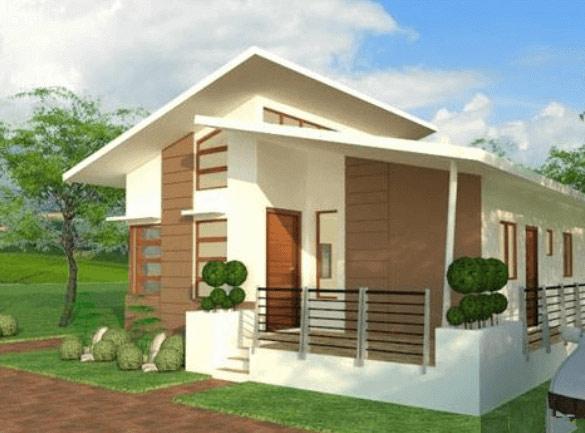 Nhà 1 tầng nông thôn mái lệch mặt tiền 7m2 với các mặt cắt không cân xứng tạo ấn tượng mạnh