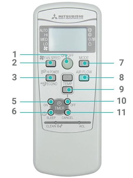 Nút nhấn điều khiển Mitsubishi