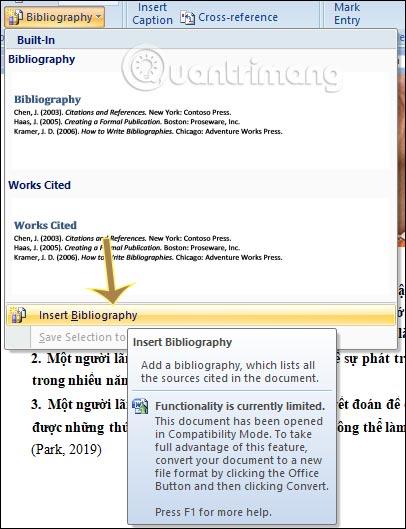 MS Word - Bài 16: Thêm trích dẫn và tạo thư mục trích dẫn