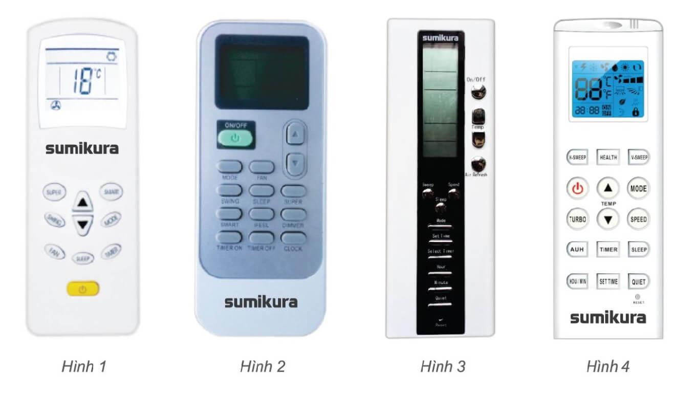 cách sử dụng điều khiển điều hòa Sumikura