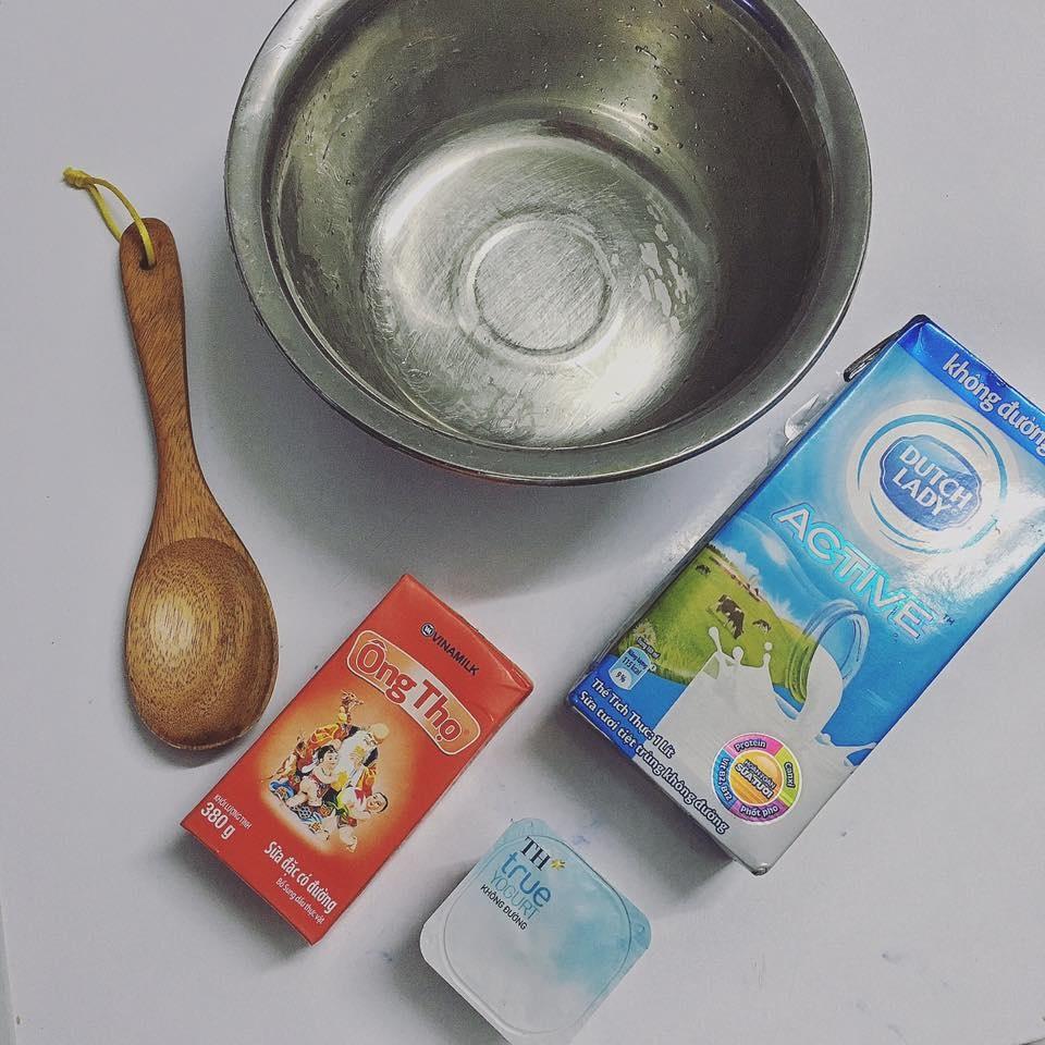 Nguyên liệu làm sữa chua úp ngược