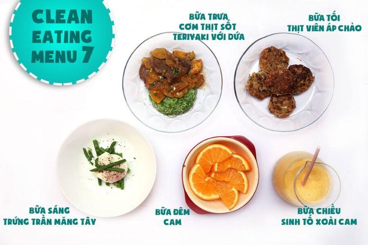 Thực đơn Eat Clean giảm mỡ bụng