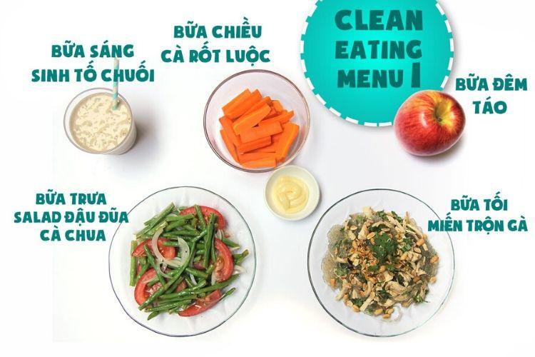 Thực đơn Eat Clean 7 ngày giảm cân nhanh chóng