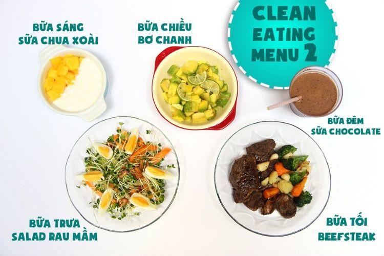 Thực đơn Eat Clean giảm mỡ bụng nhanh, hiệu quả