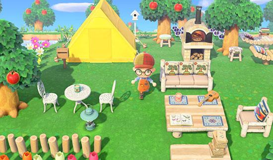Khu vườn trong game của một người chơi