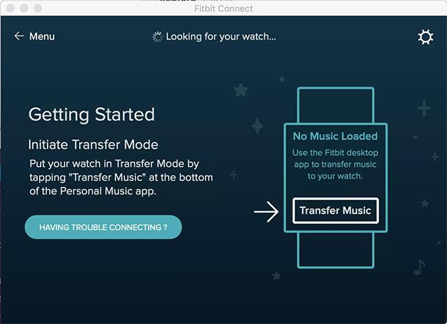 Truy cập ứng dụng Music và nhấn Transfer Files