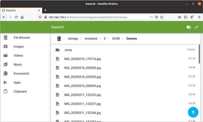 Bạn có thể truy cập tất cả các file trong thiết bị thông qua phần File Browser