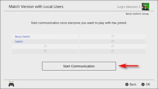 Chọn Start Communication để cập nhật bản mới nhất