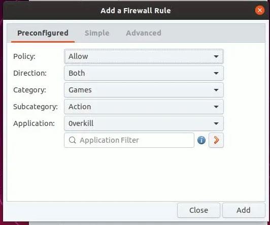 Nhấp vào tab Rules và nhấn nút + để thêm quy tắc