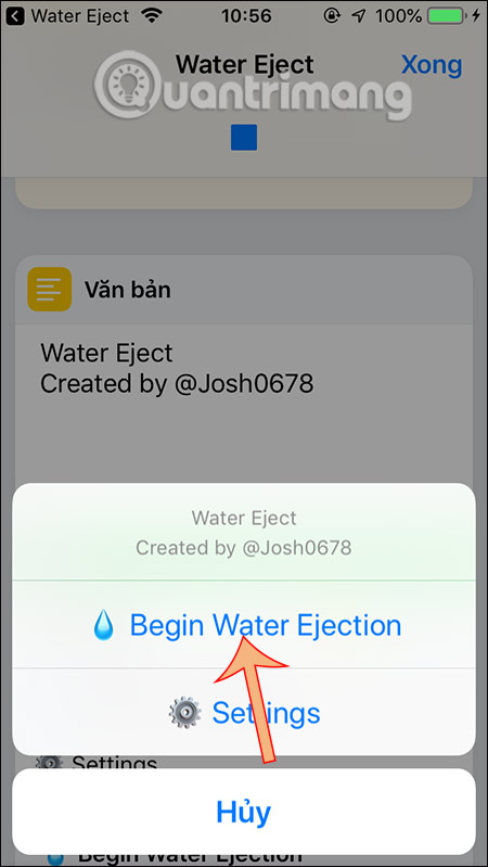 Begin Water Ejection