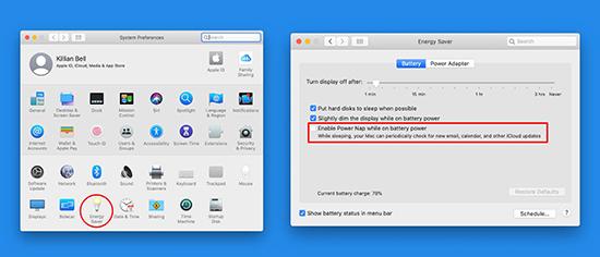 Tắt Power Nap trên macOS