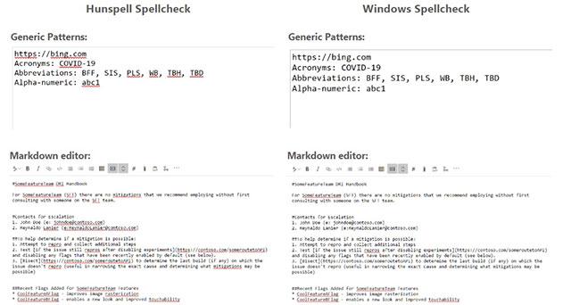 Hunspell và Windows Spellchecker