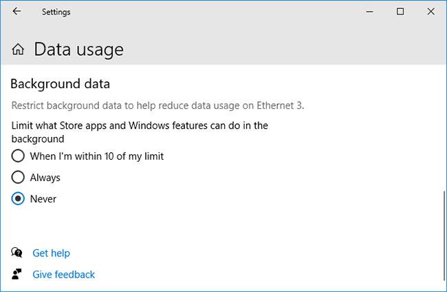 Nhấp vào Edit limit để thay đổi cài đặt hoặc Remove limit để loại bỏ nó