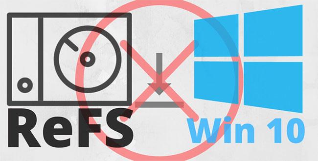 Không thể cài đặt hệ điều hành trên phân vùng ReFS