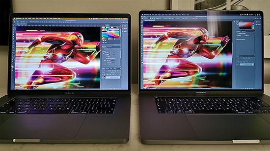Màn hình hiển thị của MacBook Pro 16 inch so với phiên bản 15 inch