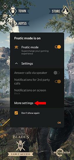 Những cài đặt khi bật Fnatic Mode