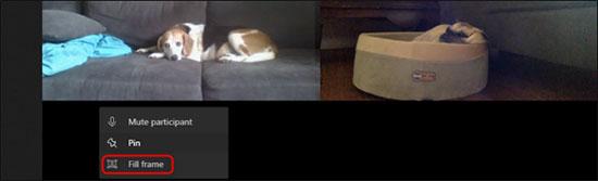Fill frame để quay lại kích thước video cũ