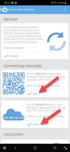 Bạn cũng có thể quét mã QR bằng cách nhấn vào nút Scan