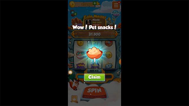 food cho pet coin master