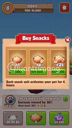 thức ăn pet coin master