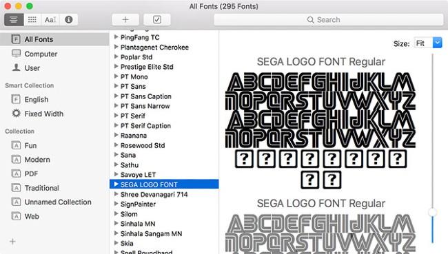 Font Book là nơi bạn quản lý các font chữ trên Mac
