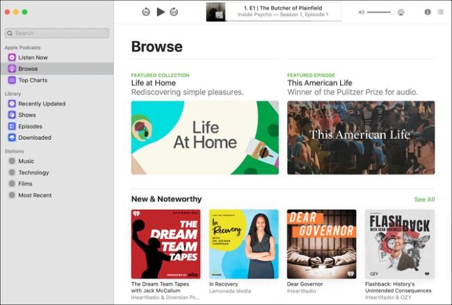 Podcasts giúp bạn tìm kiếm, nghe và quản lý các chương trình radio