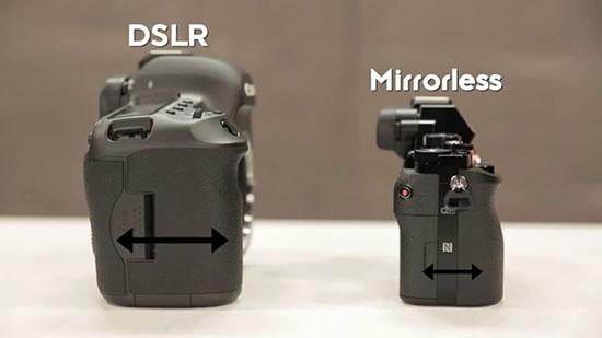 Khác nhau về kích thước hai dòng máy