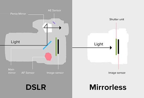 Cơ chế ánh sáng đi vào trong hai máy