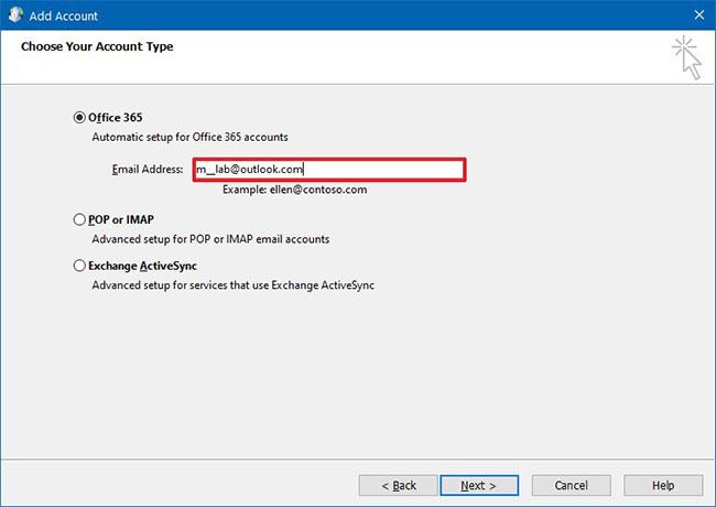 Chọn tùy chọn Office 365