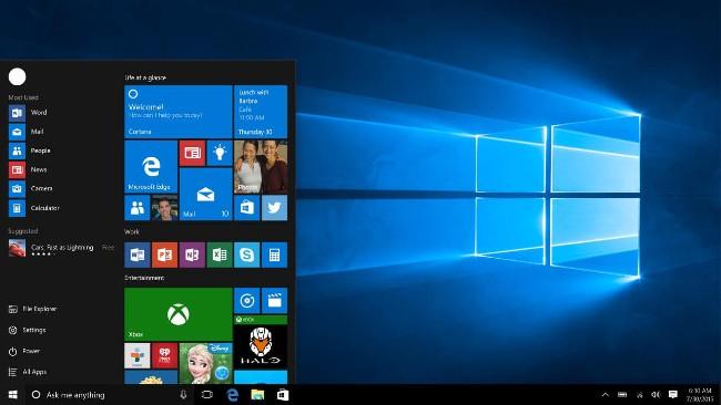 Giao diện người dùng đồ họa trên Windows 10