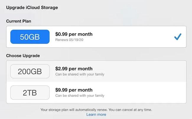Apple đưa ra những mức giá rất cạnh tranh cho iCloud