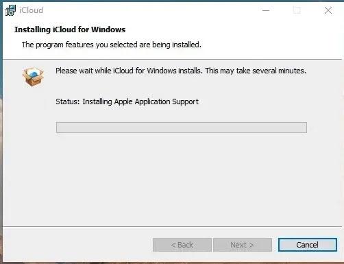 Cài đặt ứng dụng iCloud for Windows