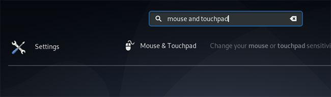Nhập từ khóa mouse and touchpad vào ô tìm kiếm