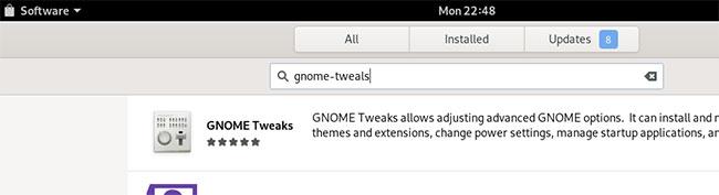Mở Debian Software Manager và tìm kiếm Gnome Tweaks