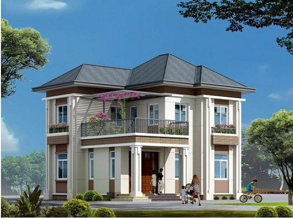 Nhà 2 tầng mang lối phong cách tân cổ điển nổi bật