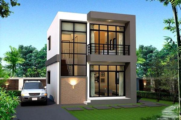 Mẫu nhà 2 tầng mái bằng đẹp, gần gũi với thiên nhiên tạo không gian trong lành cho ngôi nhà