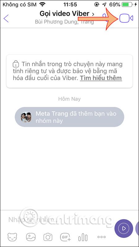 Gọi video trên Viber điện thoại