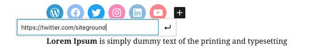 Bạn có thể thêm các widget mạng xã hội trong bài viết của mình
