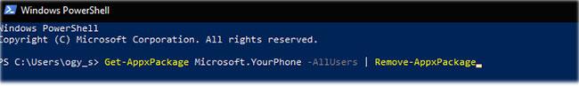 Gỡ cài đặt ứng dụng bằng PowerShell