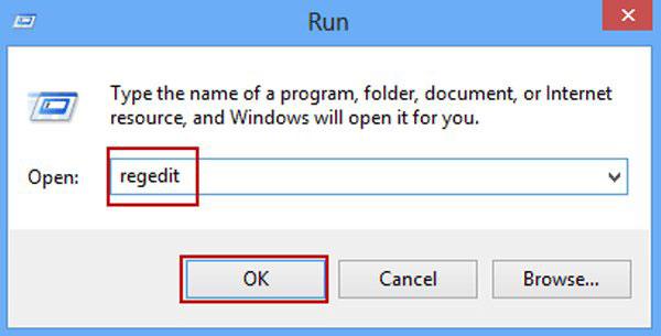 Mở Windows Registry Editor