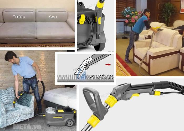 Cách vệ sinh ghế sofa bằng máy hút giặt thảm đúng cách