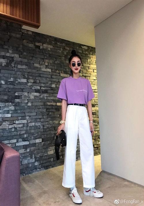 Tím lilac kết hợp với màu trắng