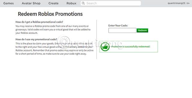 code roblox mới nhất hiện tại