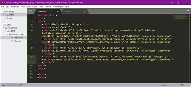 File HTML khi thêm code