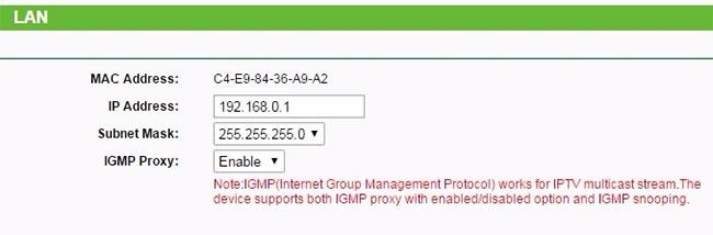 LAN IP (địa chỉ IP mạng LAN)