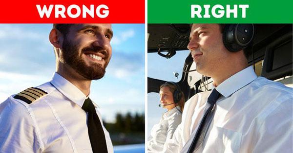 Tại sao phi công không được để râu?