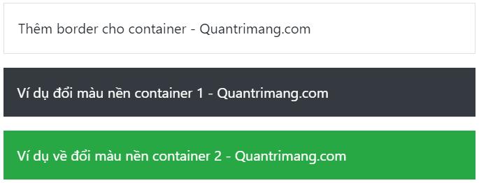 Ví dụ về màu của container